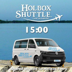 18:00 Shared Shuttle to Holbox Ferry, Chiquila Port from Cancun Airport