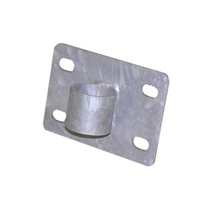 Metal Short Flat Bracket with Pipe