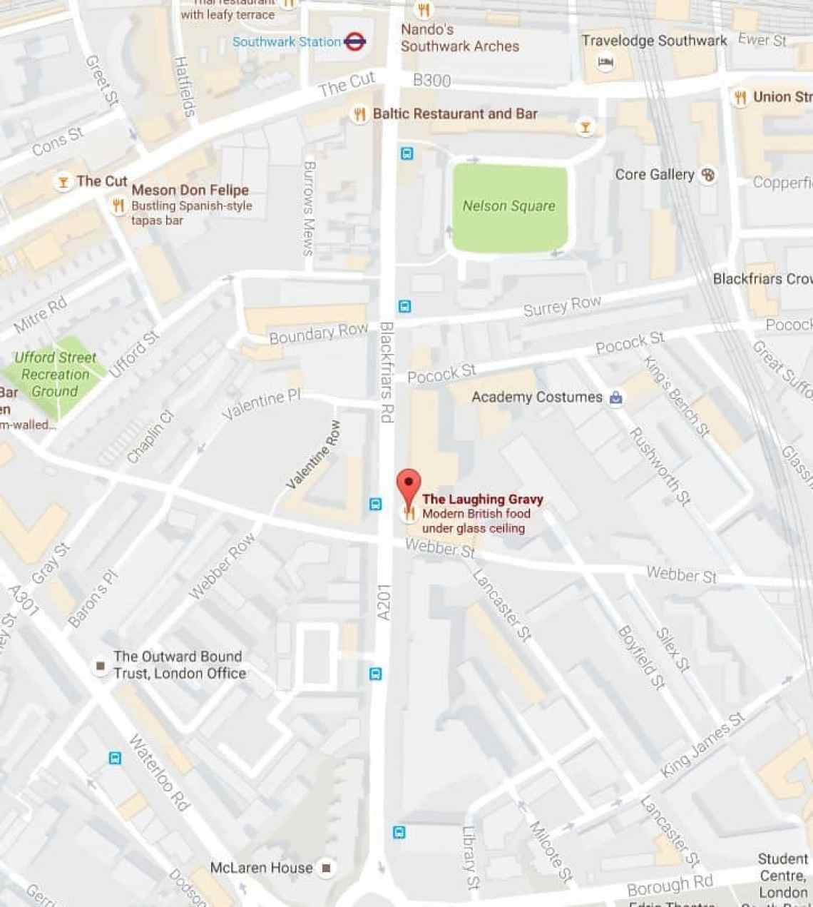 Laughing Gravy, Google Maps