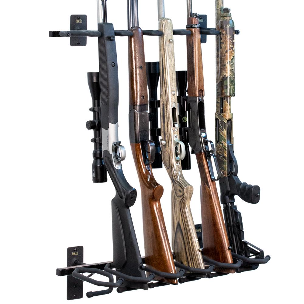 vertical gun rack for closet hold up
