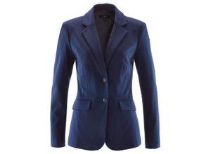 Baumwoll Jersey-Blazer, tailliert langarm in blau für Damen von bonprix