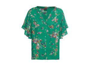 Bedruckte Bluse kurzer Arm in grün für Damen von bonprix