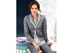 Betty Barclay Damen Blazer-Jacke Grau einfarbig
