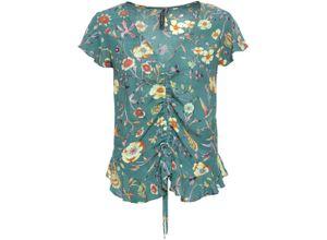 Bluse mit Blumenprint ohne Ärmel in grün für Damen von bonprix