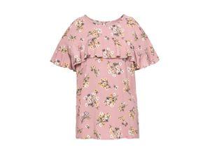 Cold-Shoulder-Bluse kurzer Arm in rosa für Damen von bonprix