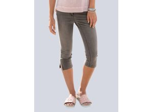 Damen Capri-Jeans Alba Moda Grau
