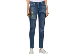 Damen Girlfriend-Jeans 'Exotic' MAC Blau