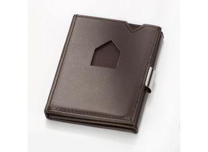 Exentri Smart Wallet Portemonnaie / Karten-Etui, Rindleder, Braun