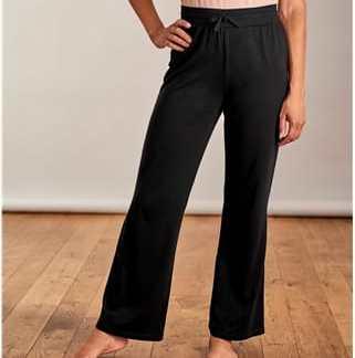 Komfortable Hose aus Baumwolle und Modal für Damen L Schwarz