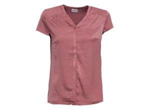 Kurzarm-Bluse in lila für Damen von bonprix