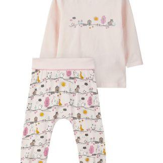 NAME IT Langärmeliges T-shirt Und Hose Damen Pink