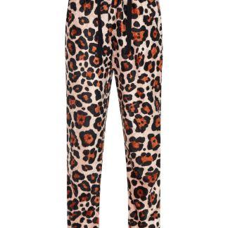 NAME IT Leopardenprint Velours Hose Damen Pink