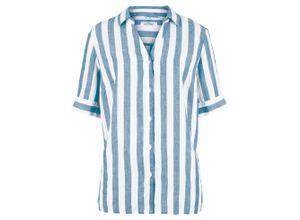 Nachhaltige Bluse aus TENCEL™ Lyocell-Leinen kurzer Arm in weiß für Damen von bonprix