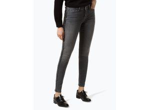 Opus Damen Jeans - Elma Glitter Stripe grau