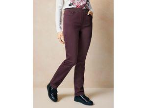 Raphaela by Brax Damen Jeans Hose Slim Fit Lila einfarbig elastisch mit flexiblem Bund