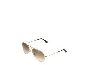 Ray-Ban Piloten-Sonnenbrille 'Aviator' braun / gold