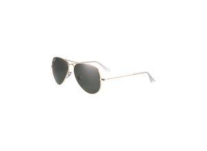 Ray-Ban Piloten-Sonnenbrille 'Aviator' gold / grün
