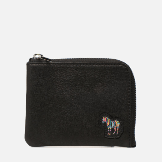 SALE -40 PS Paul Smith - Men Corner Zip Wallet Zebra - SALE Portemonnaies & Clutches / schwarz
