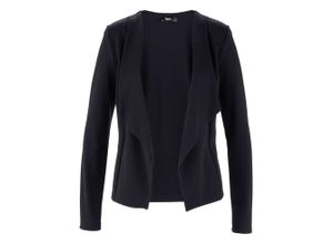 Shirt-Blazer langarm in schwarz für Damen von bonprix