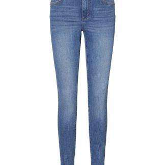 VERO MODA Vmtanya Normal Waist Skinny Fit Jeans Damen Blau