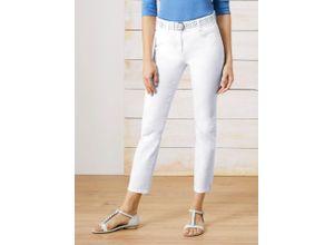 Walbusch Damen 7/8 Yoga Jeans Supersoft Regular Fit einfarbig White