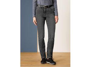 Walbusch Damen Husky-Jeans Regular Fit einfarbig Anthrazit