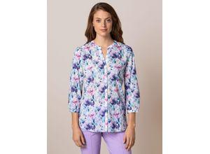 Walbusch Damen Portofino Baumwoll Bluse gemustert Blumenprint