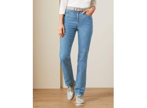 Walbusch Damen Powerstretch Jeans Regular Fit einfarbig Blue Bleached