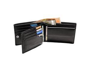 ESQUIRE LOGO GELDBÖRSE Portemonnaie Geldbeutel Leder Patentierte Lederbörse mit RFID-Schutz