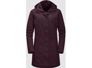 Jack Wolfskin Madison Avenue Coat burgundy, Gr. XS - Damen Mantel