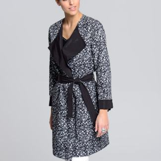 Mantel Alba Moda Schwarz/Weiß