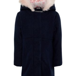NAME IT Wattierter Mantel Damen Blau