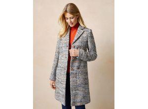 Walbusch Damen Woll-Mantel Beige mehrfarbig wärmend