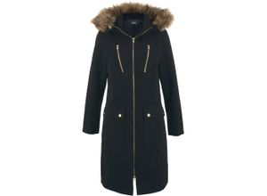 Wollimitat-Mantel langarm in schwarz für Damen von bonprix