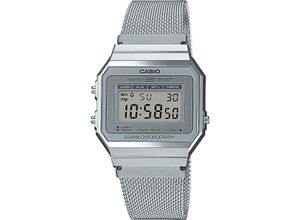 CASIO Damenuhr Casio Damen-Uhren Digital Quarz, silber, EAN: 4549526221811