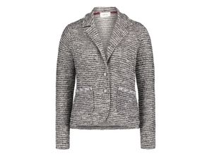 Cartoon Blazer-Jacke grau, Gr. 38 - Damen Blazer