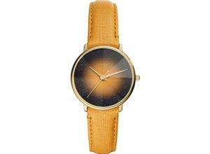 FOSSIL Damenuhr Fossil Damen-Uhren Quarz, gelb, EAN: 4013496833638