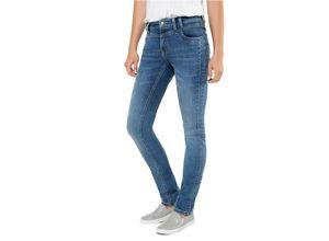 Gina Laura Damen Jeans Tina,, 5-Pocket-Form, Ziersteine, blau, Baumwolle/Polyester/Elasthan