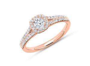 Halo Ring 750er Roségold mit Diamanten
