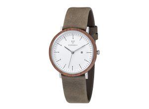 Kerbholz Damen - Uhren 'Amelie' braun / oliv / weiß