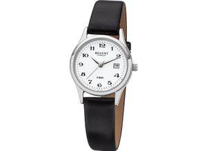 Regent Damenuhr Regent Damen-Uhren Analog Quarz, schwarz, EAN: 4045346060864
