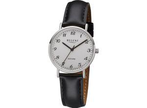 Regent Damenuhr Regent Damen-Uhren Analog Quarz, schwarz, EAN: 4050597189066