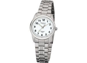 Regent Damenuhr Regent Damen-Uhren Analog Quarz, silber, EAN: 4050597100955