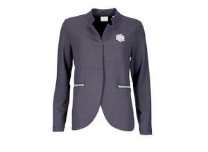 Rich & Royal Jersey-Jacke mit Strass-Pin deep blue, Gr. S - Damen Blazer