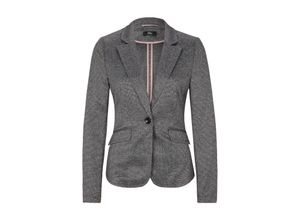 S.oliver Black Label Interlock-Blazer mit Strukturmuster grey/black check, Gr. 34 - Damen Blazer