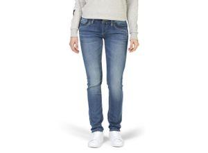 Timezone Slim Tahila Jogg-Jeans blue denim wash, Gr. 33/32 - Damen Jeans