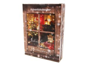 Zeeme Adventskalender Schmuck Messing vergoldet