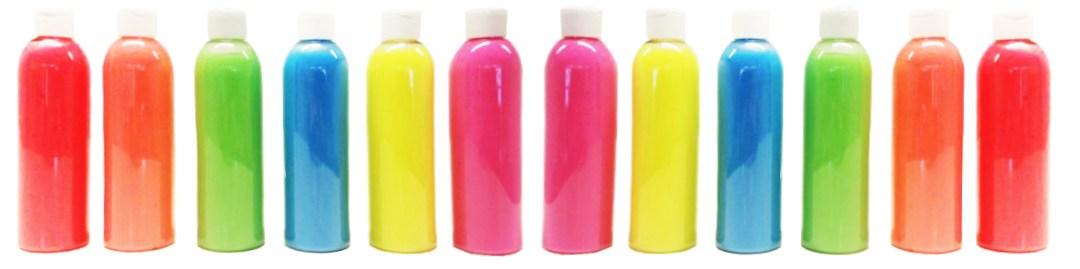 Wet liquid UV NEON paint