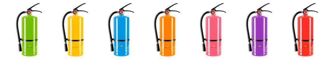 color powder extinguisher