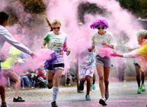 course colorée de bienfaisance